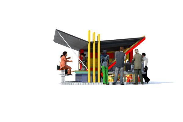 kiosque fast food cafe bar design ouagadougou bf. Black Bedroom Furniture Sets. Home Design Ideas