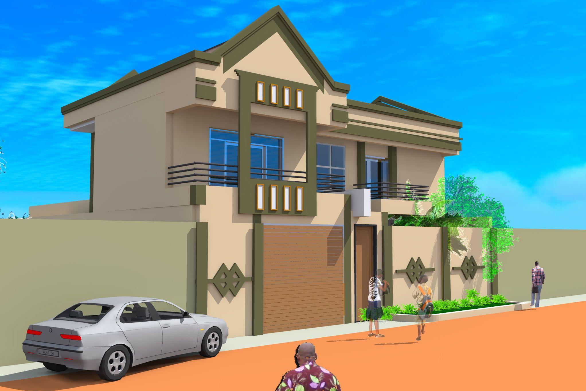 Projet d 39 extension d 39 une villa a ouagadougou burkina faso for Projet extension